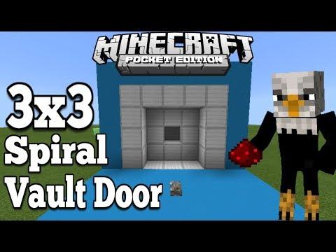 How To Make 3x3 Spiral Vault Door - Minecraft Pe