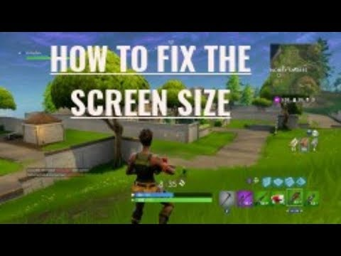 How to change the screen size on fortnite PS4/Xbox one/PC