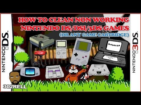 How to clean a dirty non working Nintendo DS/DSi/3DS game cartridge