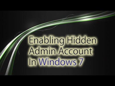 Windows 7 - Enabling Hidden Admin Account (Lost Password)