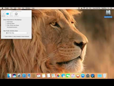 Apple Tips: Hide / Show Macintosh HD (HardDrive) Icon on Desktop