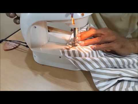 How to make a pants pattern and to sew a kids pants STEP5 STITCHING THE BOTTOM