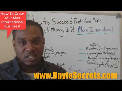 Max International Business Plan Tips - How To Leverage The Max International Compensation Plan