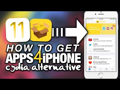 How To Get APPS4iPHONE On iOS 11 - Cydia Alternative - TWEAKED APPS - HACKED APPS - ++APPS