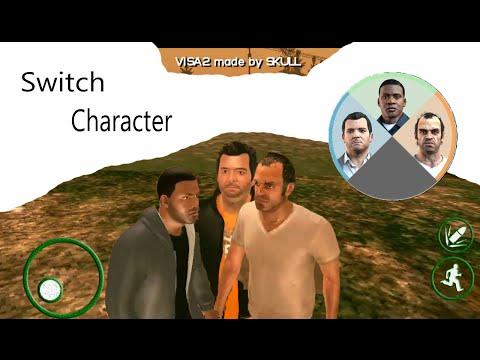 Switch char GTA V [GTA SA ANDROID]