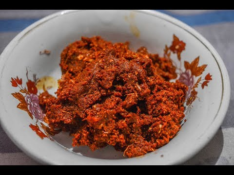 कोल्हापूरी झटका चटनी | Kolhapuri Jhataka Chutney | Red Chilli Garlic Chutney