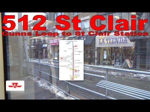 512 St Clair - TTC 2017 Bombardier Flexity Outlook 4449 (Gunns Loop to St Clair Station)