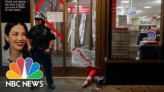 Watch: Looters Break Windows, Raid New York City Stores Overnight   NBC News NOW