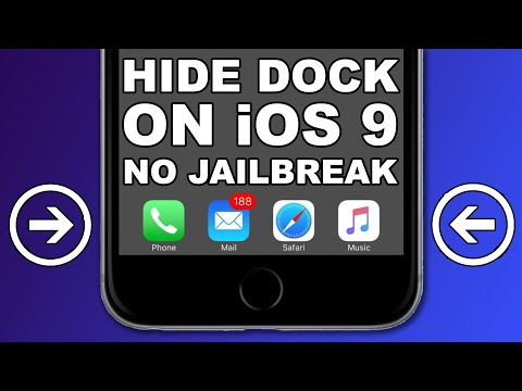 Hide The Dock on iOS 9- 9.3.5 With a Wallpaper Glitch, WITHOUT JAILBREAK iPhone, iPad, iPod Touch