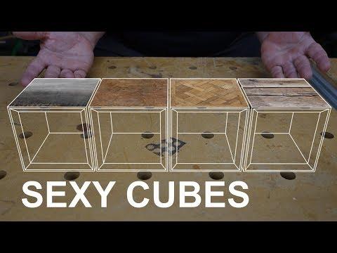 SALVAGED WOOD: Making DIY modular cube furniture and shelving