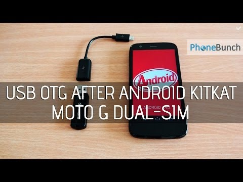 USB OTG on Moto G Dual SIM After Android 4.4.2 KitKat Update
