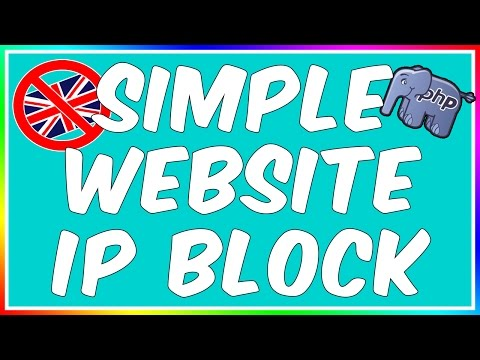 How To: Make A PHP IP/Country Blocker!