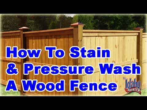 How To Powerwash & Stain A Fence.  Tips staining or painting a fence.