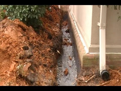 Waterproof Your Foundation, How To trench , seal wall, add pipe and gravel. Step by Step Install