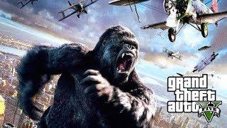 KING KONG DESTROYS LOS SANTOS !!! GTA 5 Michael