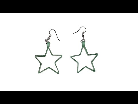 How to make Quilling Earrings || Easy Quilling earrings || Quilling Earrings Star Design