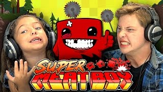 Download KIDS PLAY SUPER MEAT BOY (Kids React: Gaming) Video