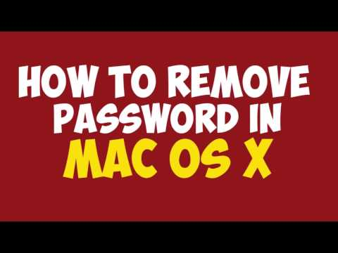 How to Remove Password or Unlock Mac Os X | Full Tutorial