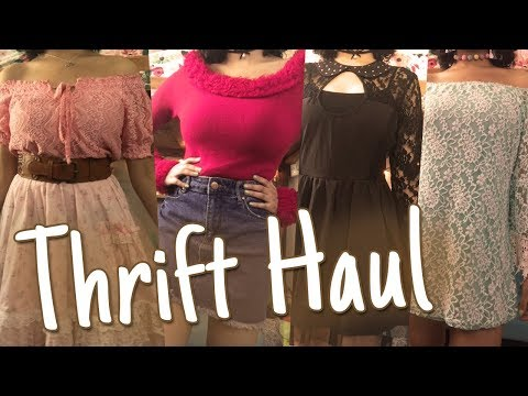 A Try On Thrift Store Haul |