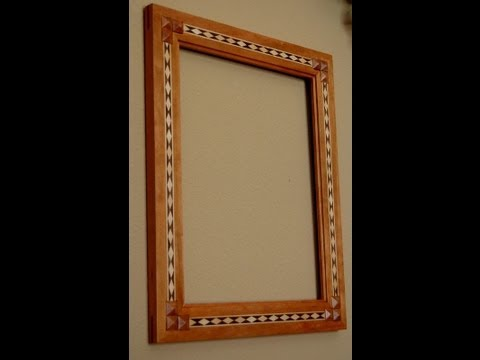 Make a Picture Frame with Diamond Inlay Banding - Pt 2
