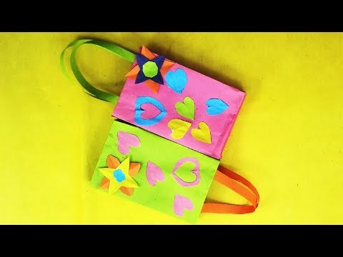 How to Make Easy Bag with Color Paper|DIY Paper Bags Making|Mr.Paper crafts