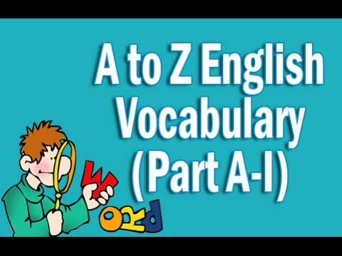 A to Z English Vocabulary Words With Meaning in Hindi | Part A-I