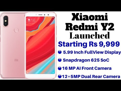 Xiaomi Redmi Y2 Launched in India With AI Camera, Face Unlock | Specifications, Features, Price.