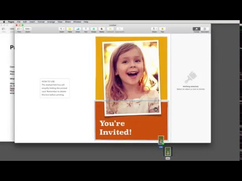 Party Invitations in Pages