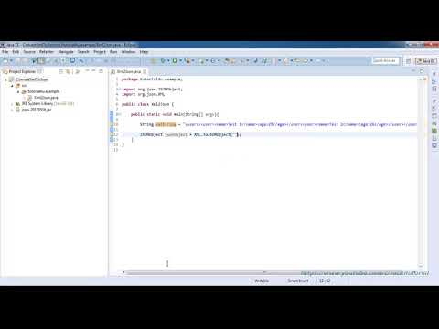 How to convert XML to JSON in Java using Eclipse IDE