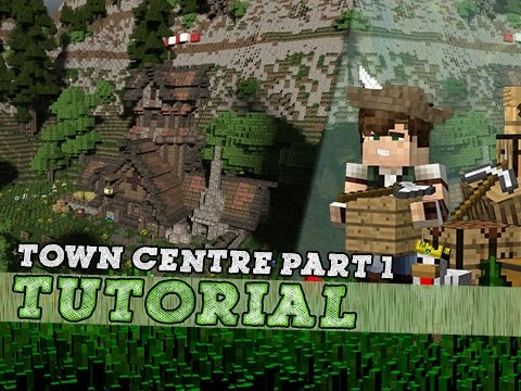 Minecraft Tutorial: How To Build A Medieval Town Centre - Part One