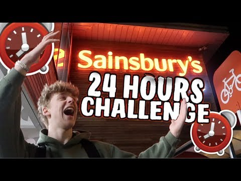 24 HOUR OVERNIGHT CHALLENGE IN SAINSBURY'S! ⏰ *SUCCESS*