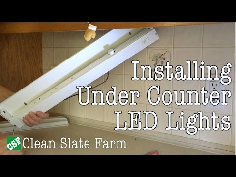 Installing Under Counter LED Lighting