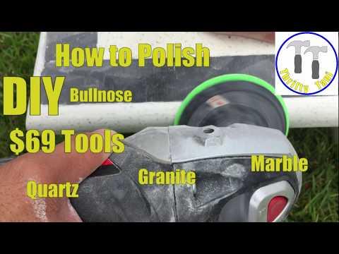 $69 DIY How to Polish a Quartz, Granite or Marble Countertop Bullnose or Square Edge profile.