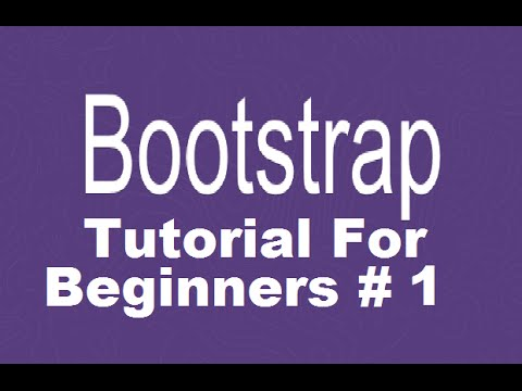 Bootstrap Tutorial For Beginners 1 # How to Download and Install Bootstrap + Introduction