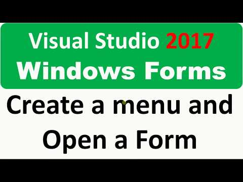 Windows Forms - Build a menu (MenuStrip) and open a second form from it