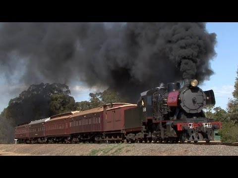 Black Smoke, Heavy Grades - J541 on the VGR: Australian Trains