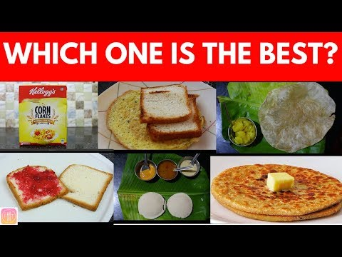15 Breakfast Options in India Ranked from Worst to Best