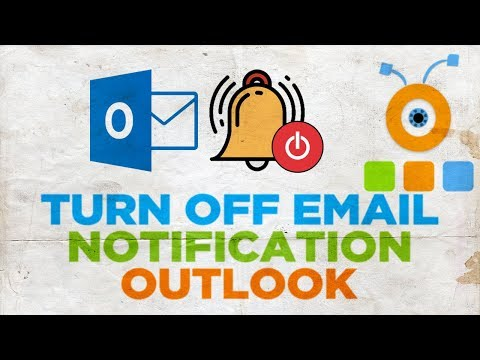 How to Turn Off Email Notification in Outlook