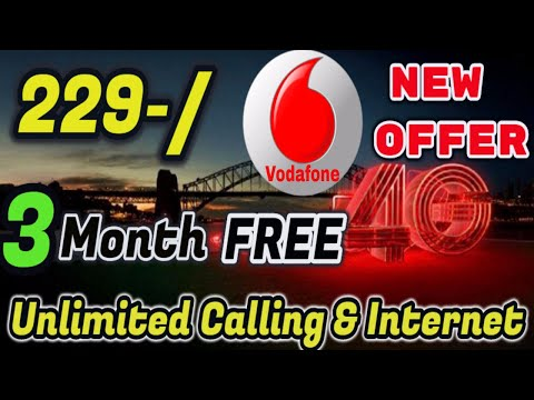 Vodafone Offer ka Baap ! @299 Unlimited 3 Month Free Data & Calling  Vodafone Full details Hindi