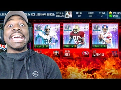 GETTING 99 OVR LEGEND JERRY RICE IN SUPER BOWL PACK OPENING! Madden Mobile 18 Gameplay Ep. 30