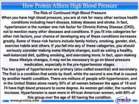381 How Protein Affects High Blood Pressure.