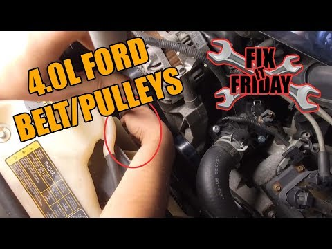 How to Replace Serpentine Belt and Pulleys 2002-2010 Ford Explorer (4.0L V6)