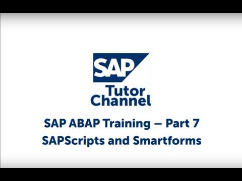 SAPScripts and Smartforms