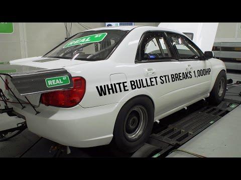White Bullet Subaru STI Breaks 1,000HP - Real Street Performance