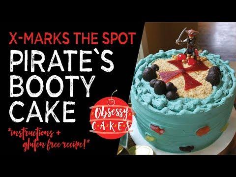 PIRATE'S BOOTY birthday cake