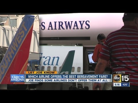 Which airline offers the best bereavement fare?