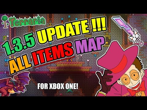 Terraria Xbox ONE 1.3.5 Update ALL ITEMS MAP (EVERY SINGLE ITEMS) + Download!