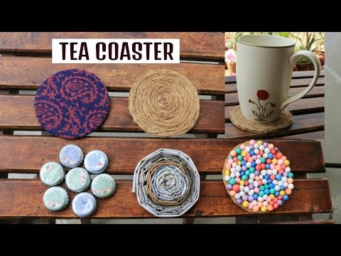 5 DIY TEA COASTER made with WASTE | DRINK COASTER