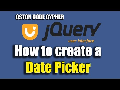 How to create a Date Picker Using jquery UI