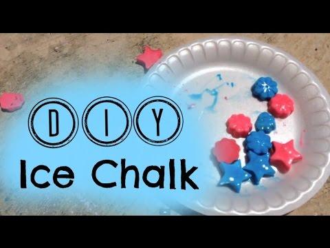 DIY Ice Chalk